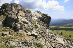 Top Mount Tiyahty of Altai Mountains Stock Image