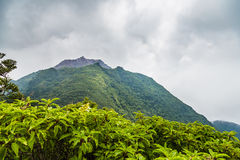 Top of Mount Unzen hiking trail in Kumamoto, Japan. Stock Photography