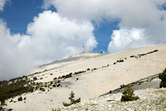 The top of Mount Ventoux. In Provence, France Royalty Free Stock Photos