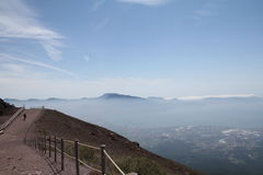 On top of the Mount Vesuvius Stock Photos