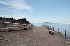 On top of the Mount Vesuvius Stock Images
