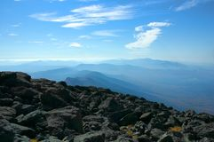 View of the presidential range from the top of mount washington royalty free stock photo