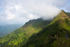 On top mountain. Viewpoint in Thailand national park image Stock Photos