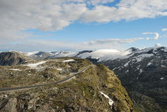On the top of the mountain. Dalsnibba, Norway Royalty Free Stock Photo