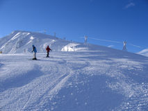 On top of the mountain. Slope of Jasna ski resort Stock Images