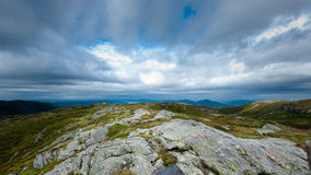 Top of the mountain. On top of mountain near Bergen city in Norway Royalty Free Stock Photos