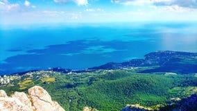 On top of the mountain AI-Petri. In Crimea stock image