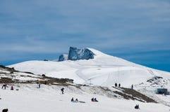 Top of a mountain called Veleta in Sierra Nevada Stock Photos