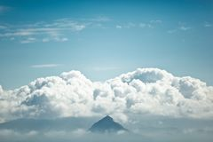 The top of the mountain among the clouds. Stock Image
