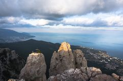 Top of the mountain in Crimea Stock Photo