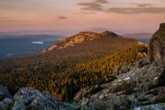 Top of the mountain at dawn Stock Photos