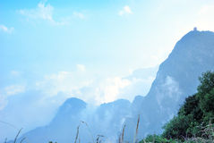Top of mountain Emei scenery royalty free stock image
