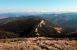 The top of the mountain royalty free stock photography