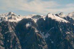 Top mountain Fox glacier black rock stock images