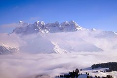 Top of a mountain in France royalty free stock photos
