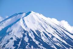 Top of Mountain Fuji from Kawaguchiko lake, japan Royalty Free Stock Image