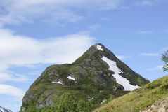 Top of mountain. In jotunheimen national park, norway Royalty Free Stock Photo