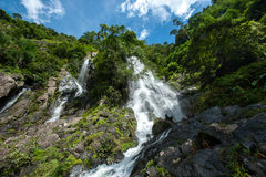 Top of mountain in Krok E-Dok waterfall at Khao Yai National Par Royalty Free Stock Images