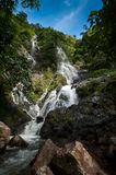 Top of mountain in Krok E-Dok waterfall at Khao Yai National Par Royalty Free Stock Photo