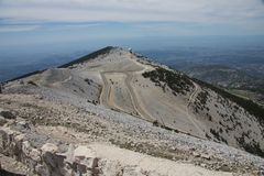 At top of the mountain Mont Ventoux Royalty Free Stock Images