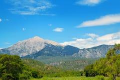 Top of mountain Olympos Turkey and blue sky. Top of mountain Olympos Turkey against blue sky Royalty Free Stock Photo