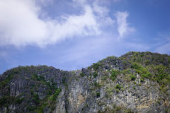 Top of mountain in Palawan, Philippines Royalty Free Stock Photo