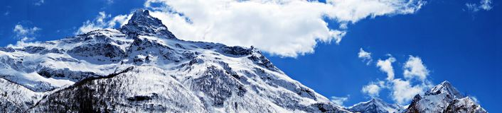 The top of the mountain. Panorama Royalty Free Stock Photos