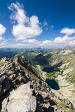 On top of the mountain peak Royalty Free Stock Image