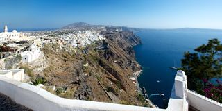 Fira. Panorama. Royalty Free Stock Images