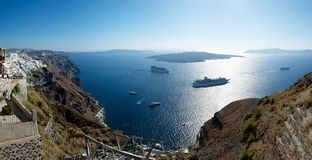 Caldera. Santorini. Stock Images