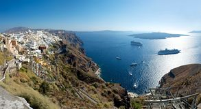 Fira. Panorama. Royalty Free Stock Photo