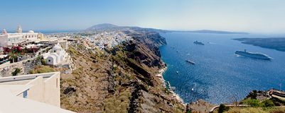 Fira. Panorama. Stock Photography