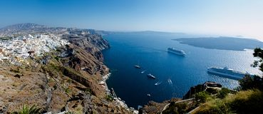 Fira. Panorama. Royalty Free Stock Photography