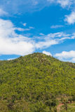 Top of mountain. Scene in blue sky Royalty Free Stock Image