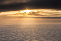 The top of the mountain the sea of clouds Royalty Free Stock Photo