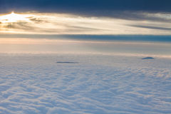 The top of the mountain the sea of clouds Stock Photography