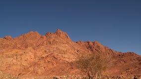 The top of the mountain on the Sinai peninsula stock footage