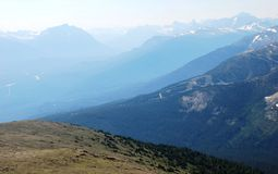 On the top of mountain Whistler Royalty Free Stock Photo