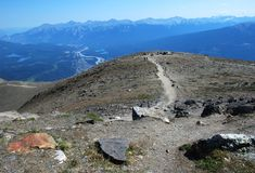 Top of mountain Whistler Royalty Free Stock Photo