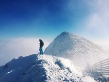 On the top of mountains Royalty Free Stock Images
