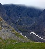 The top of the mountains in the clouds , Khibiny. Kola Peninsula Stock Photo
