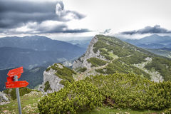 Top of mountains and clouds Royalty Free Stock Photography