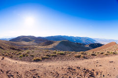 Top of the mountains in Death Valley Stock Photography