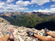 On top of mountains Stock Photos