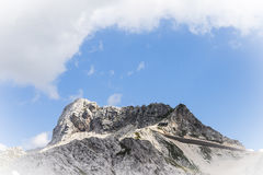 Top of the mountains in the italian alps Royalty Free Stock Images