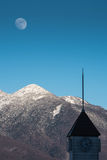 Top of mountains ,moon Royalty Free Stock Photography