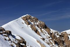 Top of mountains with snow cornice Royalty Free Stock Images