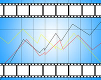 Top movies diagram. Background of top movies with diagram with empty place for pictures Royalty Free Stock Images