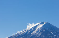 On top MT fuji blue sky with cloud Stock Images