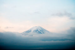 Top of Mt. Fuji covered with snow Stock Images